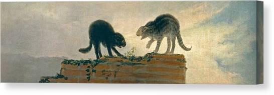 The Prado Canvas Print - Catfight by Francisco Goya