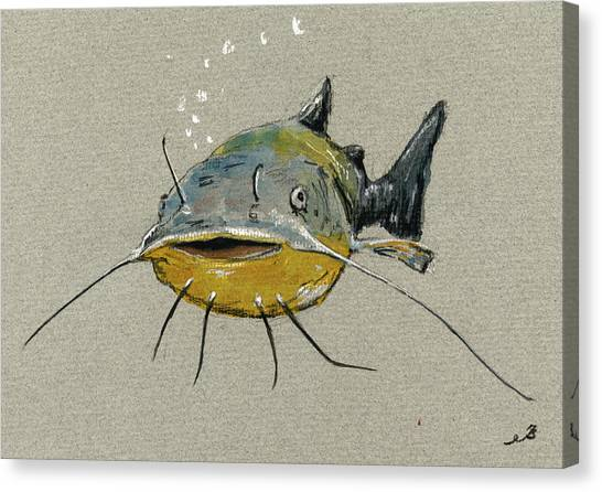 Catfish Canvas Print - Catfish by Juan  Bosco