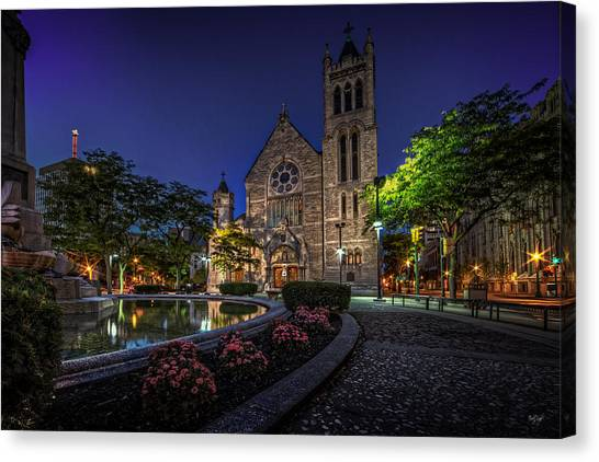 Immaculate Canvas Print - Cathedral At Columbus Circle by Everet Regal