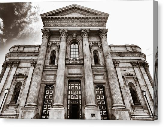 Cathedral Basilica Of Saints Peter And Paul - Philadelphia Canvas Print