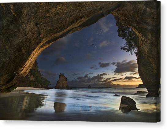 Night Canvas Print - Cathedral Cove by Yan Zhang