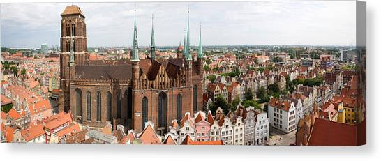 Pomeranians Canvas Print - Cathedral In A City, St. Marys Church by Panoramic Images