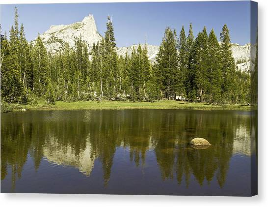 Cathedral Lakes-yosemite Seriers 19 Canvas Print by David Allen Pierson
