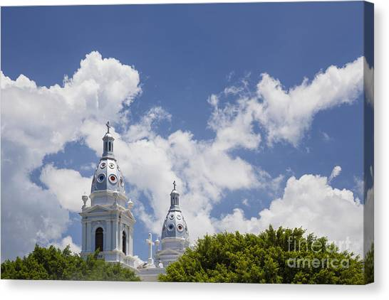 Canvas Print featuring the photograph Cathedral Nuestra Senora De Guadalupe In Ponce by Bryan Mullennix