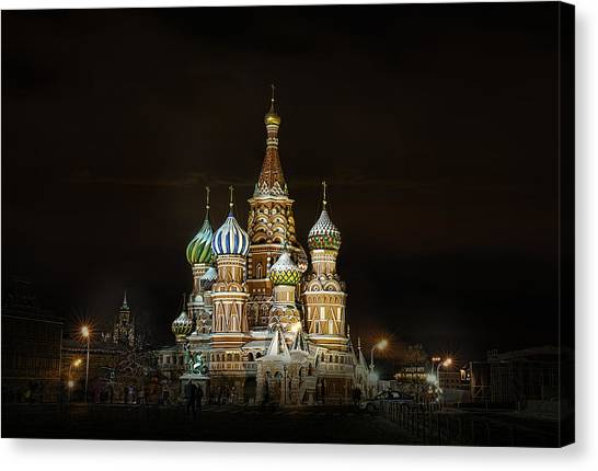 Cathedral Of Basil The Blessed Canvas Print