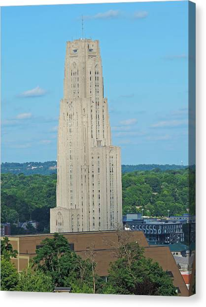 Carnegie Mellon University Canvas Print - Cathedral Of Learning by Cityscape Photography