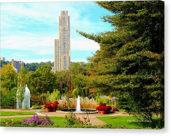 University Of Pittsburgh Canvas Print - Cathedral Of Learning by Pat McGrath Avery