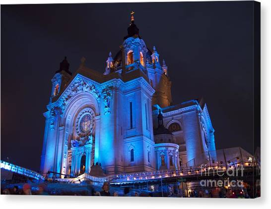 Cathedral Of Saint Paul - Crashed Ice Canvas Print by Kevin Jack