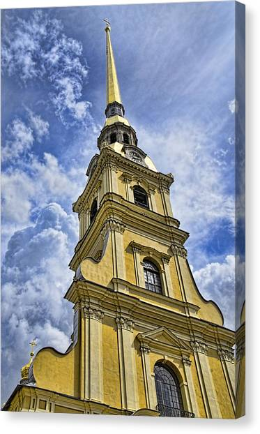 St John The Russian Canvas Print - Cathedral Of Saints Peter And Paul - St. Persburg Russia by Jon Berghoff