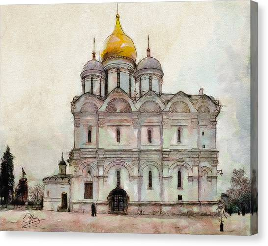 Cathedral Of The Archangel Canvas Print