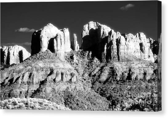 Cathedral Rock Glow Canvas Print by John Rizzuto