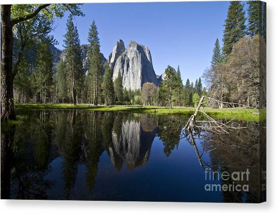 Cathedral Rocks Reflection Canvas Print