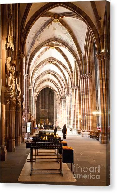 Cathedrale Notre Dame De Strasbourg France Canvas Print