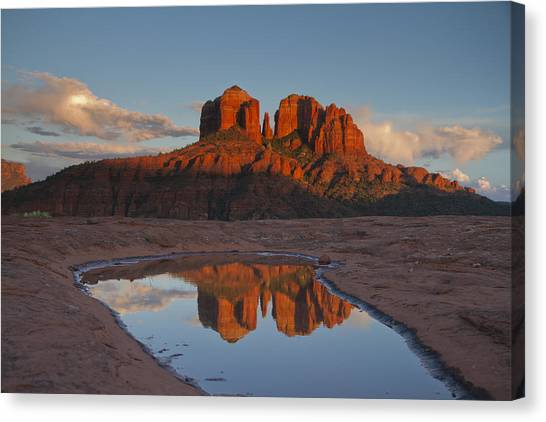 Cathedrals' Reflection Canvas Print