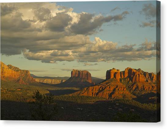 Cathedral's Shadows Canvas Print
