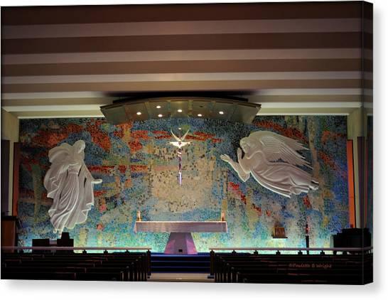 Catholic Chapel At Air Force Academy Canvas Print