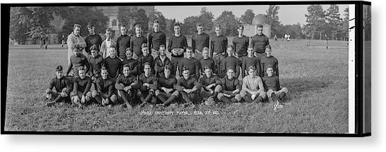 University Of Washington Canvas Print - Catholic University Football Team, Oct by Fred Schutz Collection
