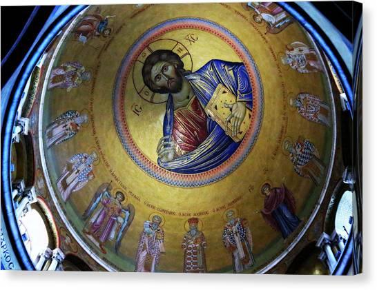 Byzantine Icon Canvas Print - Catholicon No. 3 by Stephen Stookey