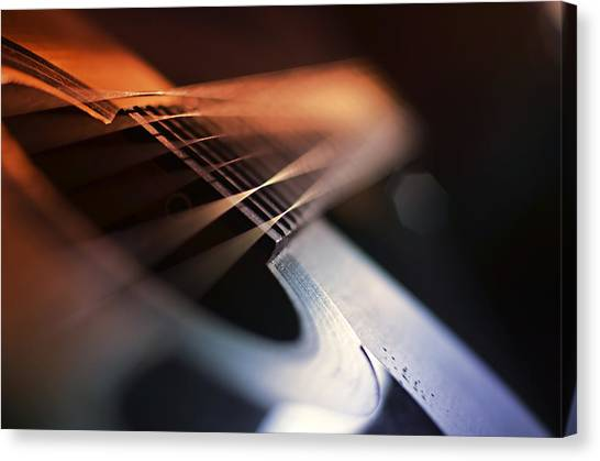 Acoustic Guitars Canvas Print - Cat's In The Cradle by Laura Fasulo