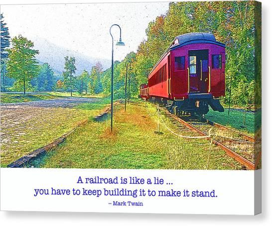 Catskill Mountain Railroad In Autumn Canvas Print