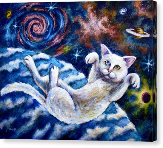 Catstronaught Canvas Print