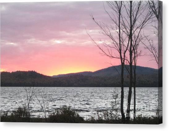 Caucomgomoc Lake Sunset In Maine Canvas Print
