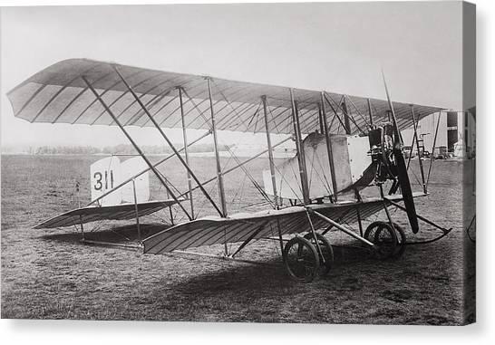 Prop Planes Canvas Print - Caudron G2 Biplane C. 1912 by Daniel Hagerman