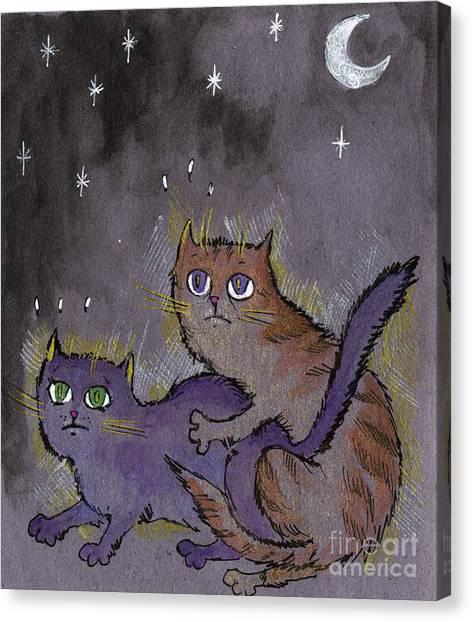 Sex Kitten Canvas Print - Caught In Act by Angel Ciesniarska