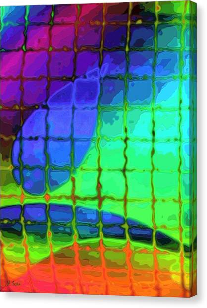 Caught In My Color Net On Venus Canvas Print