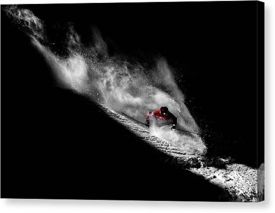 Skiing Canvas Print - Caught In The Sin by Tristan Shu