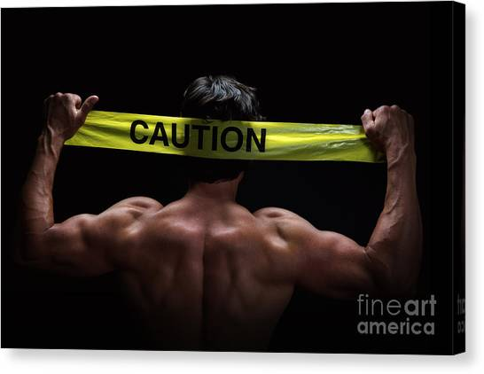 Caution Canvas Print - Caution by Jane Rix