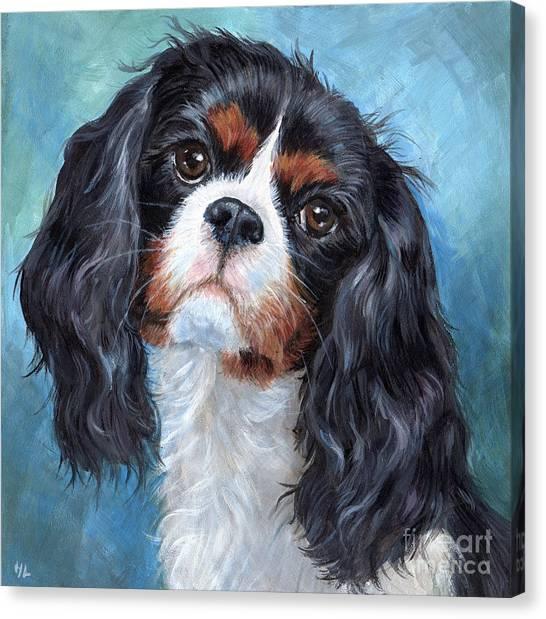 Big Eye Art Canvas Print - Cavalier King Charles Spaniel by Hope Lane