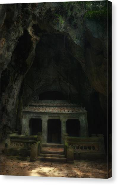 Mountain Caves Canvas Print - Cave Entrance by Kim Andelkovic