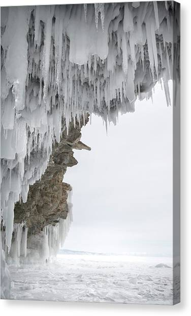 Ice Caves Canvas Print - Cave Entrance by Louise Murray