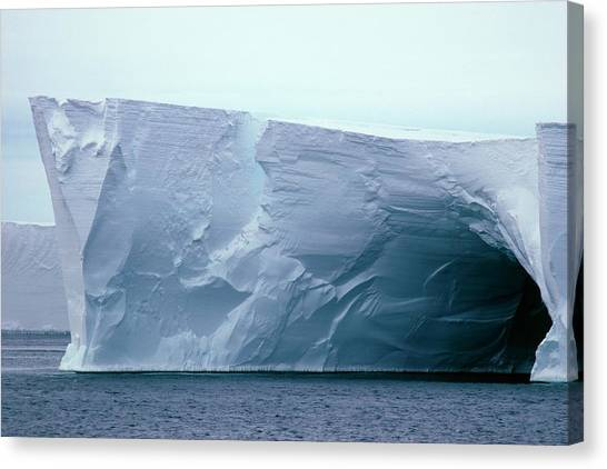 Ice Caves Canvas Print - Cave In The Ross Ice Shelf by Doug Allan/science Photo Library.