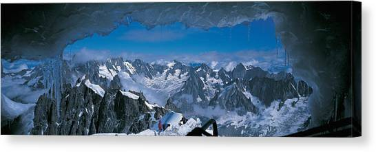 Ice Caves Canvas Print - Cave Mt Blanc France by Panoramic Images
