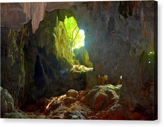 Limestone Caves Canvas Print - Heavenly Light by Toni Abdnour