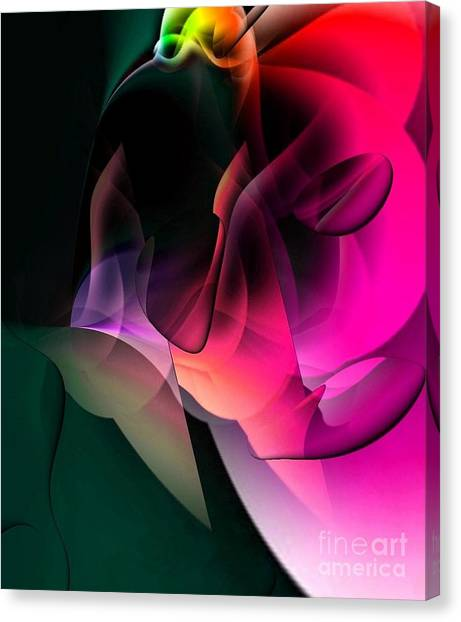 Cave Of The World Of Color By Nico Bielow Canvas Print