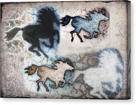 Frank Stella Canvas Print - Cave Stallions by Linda Dunn
