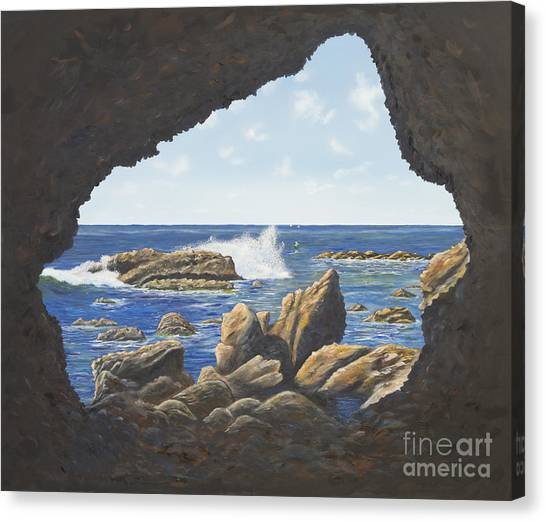 Cave View Canvas Print