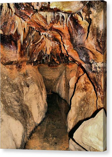 Stalagmites Canvas Print - Cavern Path by Dan Sproul