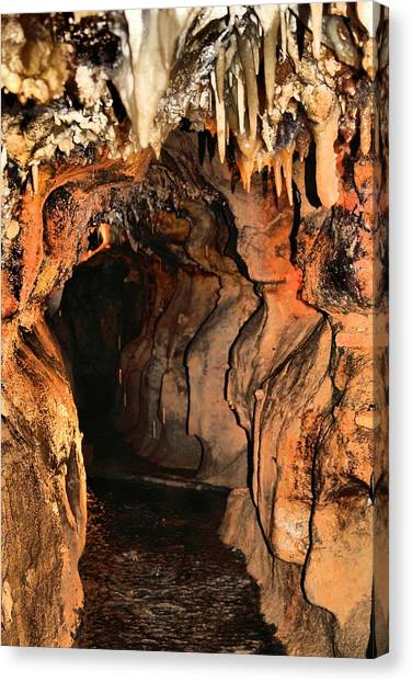 Stalagmites Canvas Print - Cavern Water by Dan Sproul