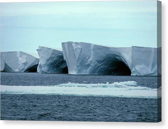 Ice Caves Canvas Print - Caves In The Ross Ice Shelf by Doug Allan/science Photo Library.
