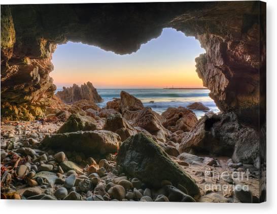 Beachside Cave Canvas Print