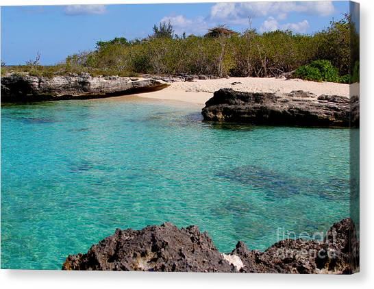 St. Lucia Canvas Print - Cayman Beach by Carey Chen
