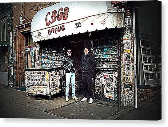 Cbgb New York 1992 Canvas Print