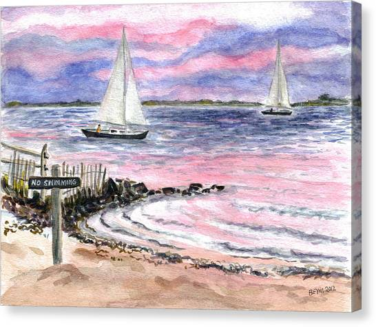 Cedar Beach Pinks Canvas Print