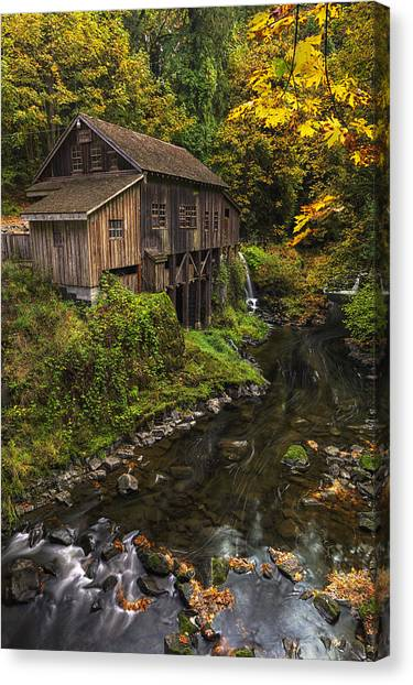 Grist Canvas Print - Cedar Creek Grist Mill 2 by Mark Kiver