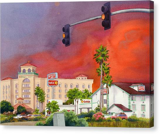 Fire Canvas Print - Cedar Fire San Diego 2003 by Mary Helmreich