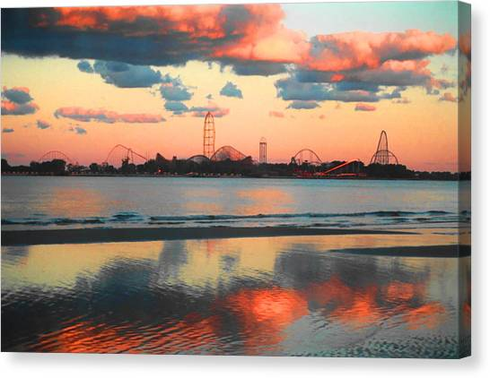 Beach Sunsets Canvas Print - Cedar Point by Sarah Kasper
